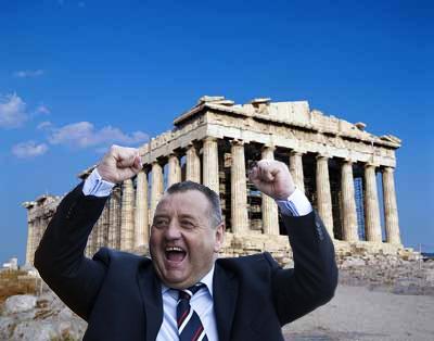 Jimmy Calderwood Greek prime minister