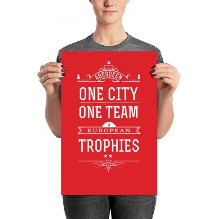 One city one team Aberdeen poster