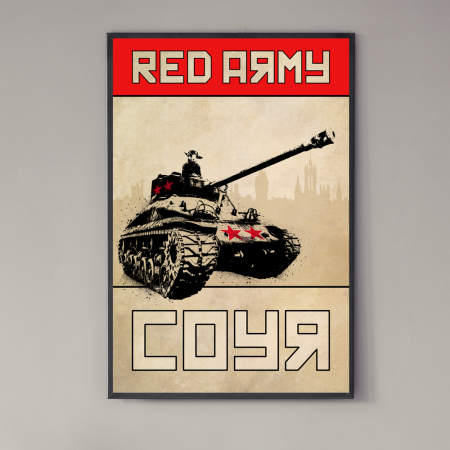 red-army-aberdeen-tank-poster