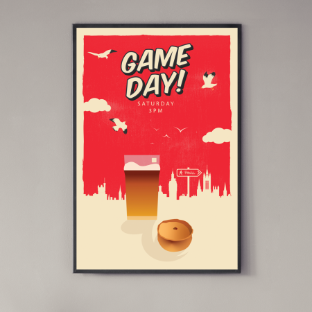 game-day-pittodrie-aberdeen-poster