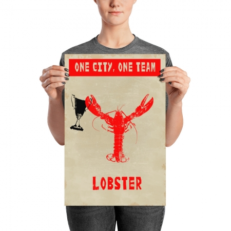 One city lobster poster