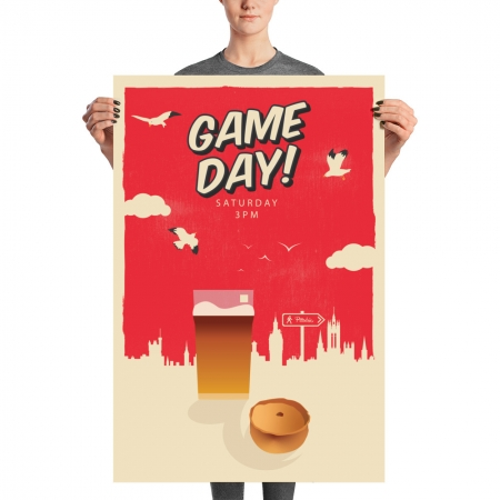 Pittodrie game day poster