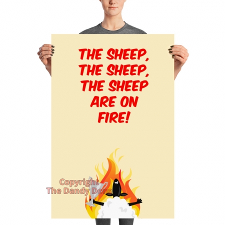 the sheep are on fire poster