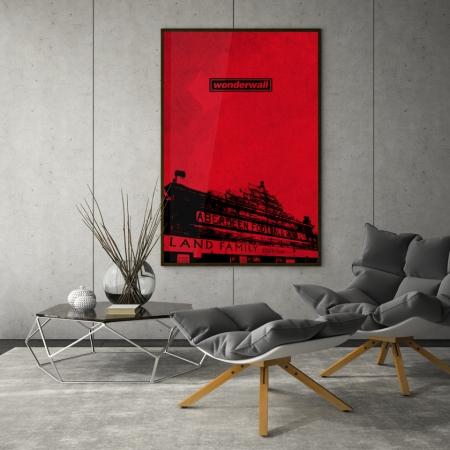 wonderwall pittodrie poster