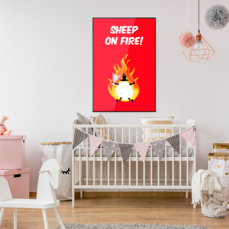 sheep-on-fire-kids-poster