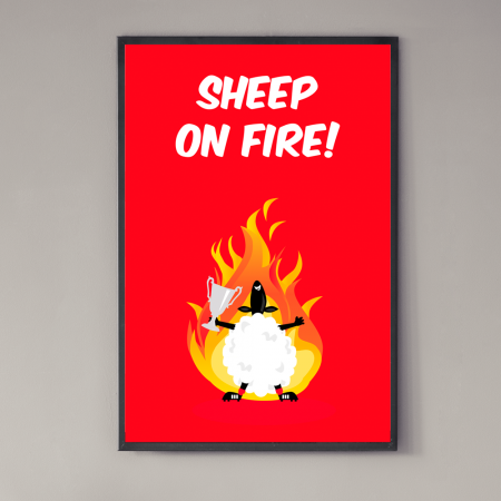 sheep on fire poster