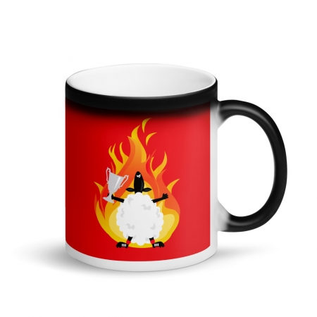 Afc sheep on fire mug